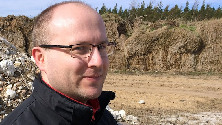 Per Johnsson är en av eldsjälarna bakom den blivande motorcykelstadion i Etelhem