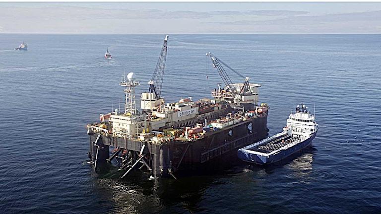 Rörläggningsfartyget Castoro Sei. Foto: Sören Andersson/Scanpix