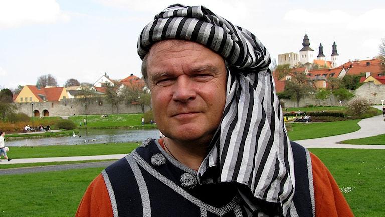 Björn Ewald, ordförande för Medeltidsveckan. Foto: Jonas Neuman/SR Gotland