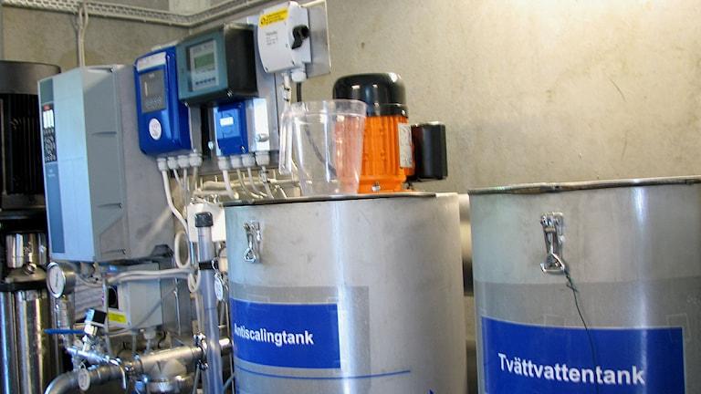 Anläggning för avsaltning av havsvatten.Foto: Ulrika Uusitalo-Fernholm/SR Gotland