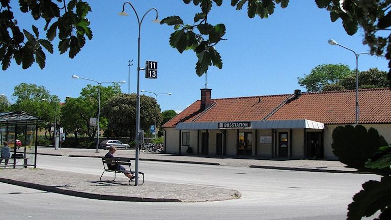 Busstationen i Visby. Foto: Henrik Wallenius/SR Gotland