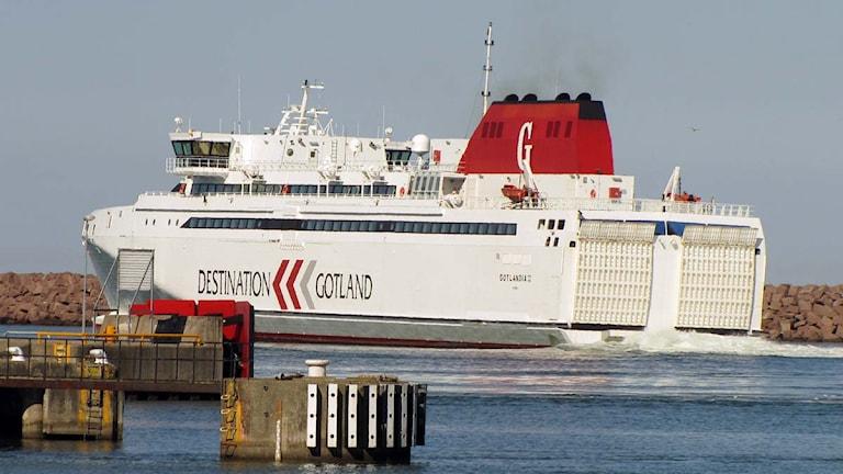 Lilla snabbfärjan HSC Gotlandia II. Foto: Jonas Neuman/SR Gotland