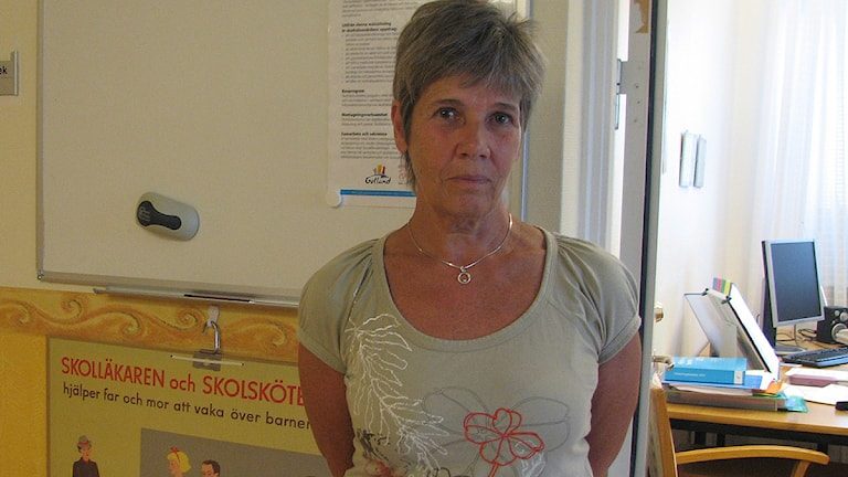 Eva Sandin, 1:a skolsköterska. Arkivbild/Sveriges Radio
