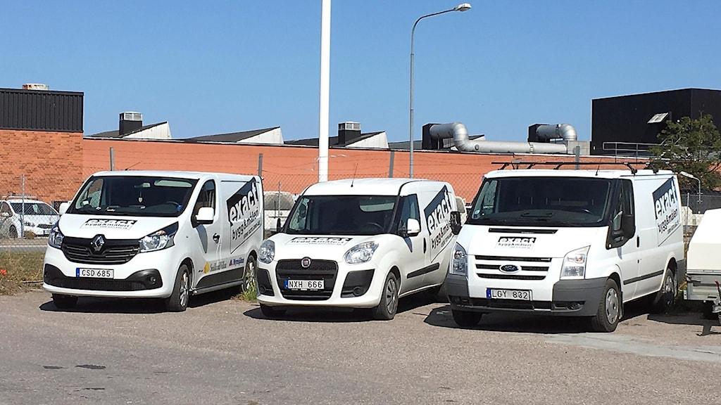 Exact Bygg & Måleri i Visby bilar