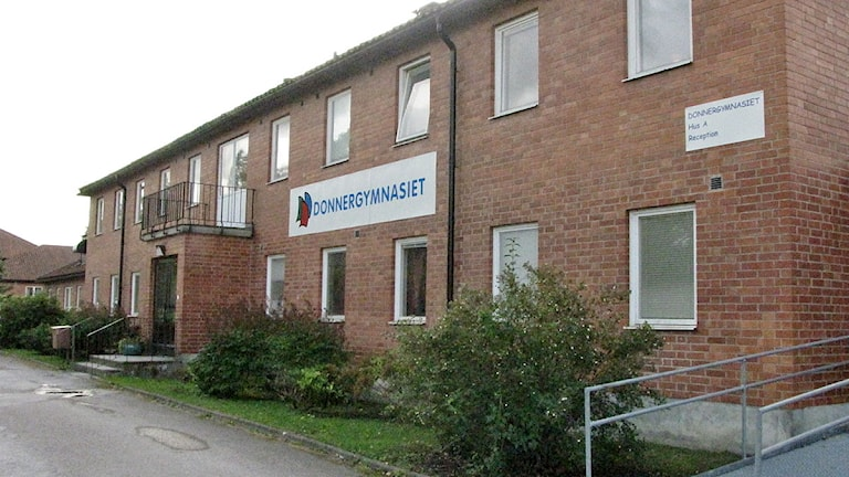 Donnergymnasiet i Klintehamn. Foto: Frida Fernnqvist/SR Gotland