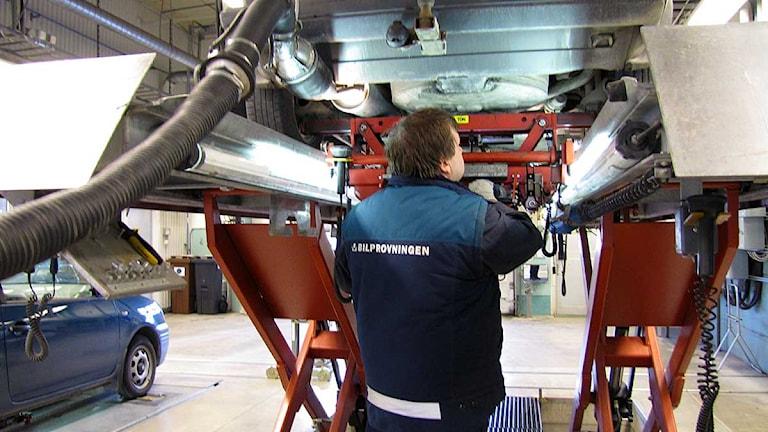 Bilprovningen i Visby. Foto: Sveriges Radio Gotland