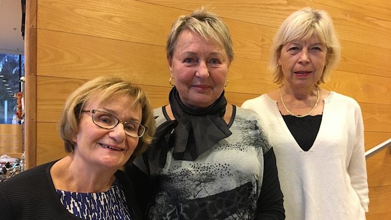 Harriet Gillberg, Karin Hedberg, Solvig Ekblad