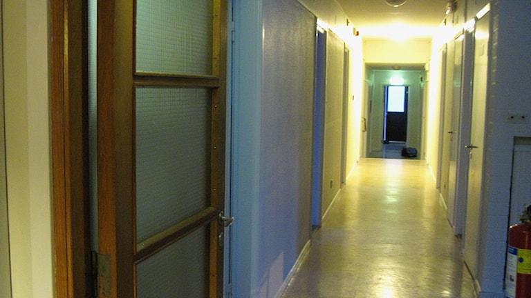 Korridor i boende för flyktingungdomar. Foto: Frida Fernqvist