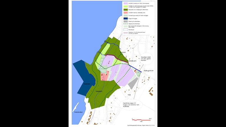 Plankarta över Snäcks camping. Bild:Stadsarkitektkontoret Region Gotland