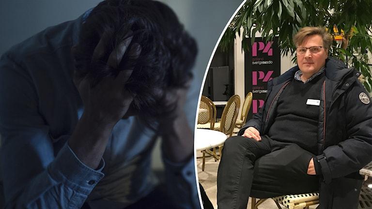 Sjukskrivning på Gotland kopplas till psykisk ohälsa. Psykolog Per-Nicklas Olofsson.