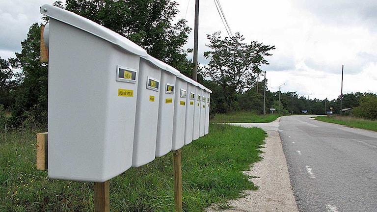Allt fler brevlådor sätts upp på Gotland