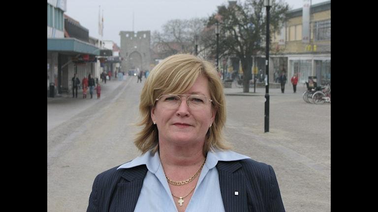 Mariette Nicander, vd Länsförsäkringar Gotland. Foto: Ulrika Uusitalo-Fernholm/SR Gotland