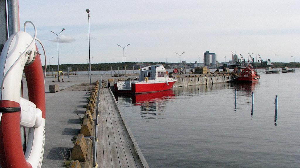 Hamnen i Kappelshamn. Foto: Henrik Wallenius/SR Gotland