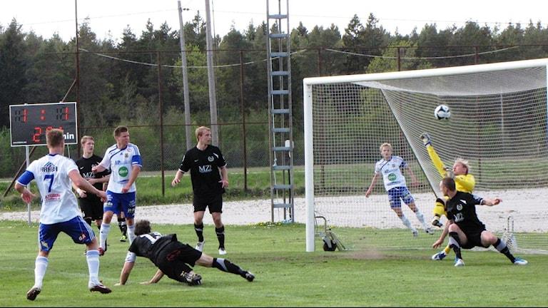 Dalhem möter Bele/Barkarby. Foto Owe Järlö Sveriges Radio