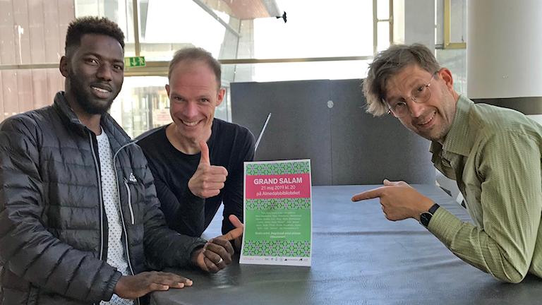 Abdelkerim Moussa, Armin Scholler och Jens Friis-Hansen