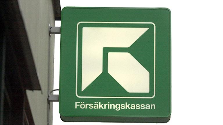 Försäkringskassans logotyp. Foto Claus Gertsen / Scanpix