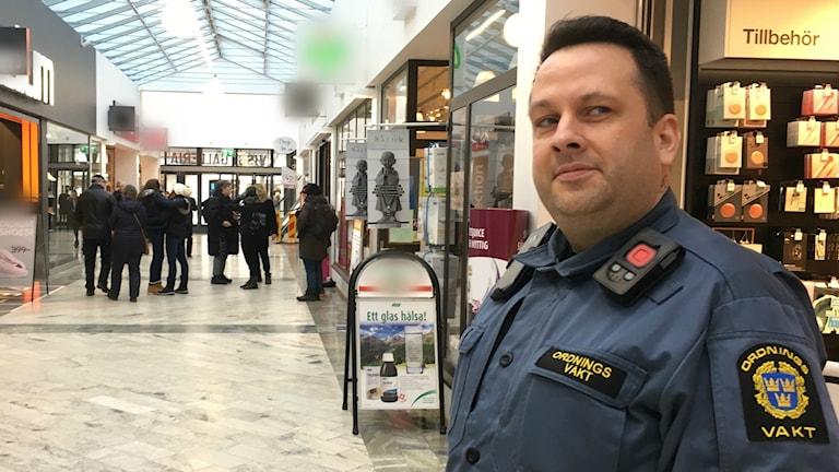 Mikael Sandervig ordningsvakt Östercentrum