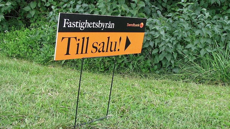 Fastighet till salu. Foto: Helen Birch/SR Gotland