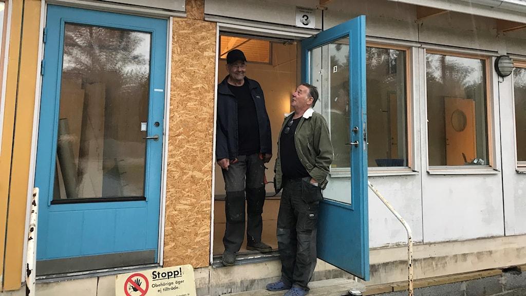 Lasse Andersson och Åke Olofsson i nya Folkets hus