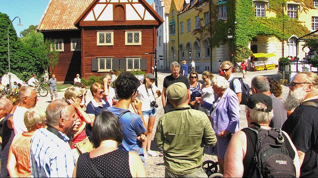 Turistgrupp Visby med guide