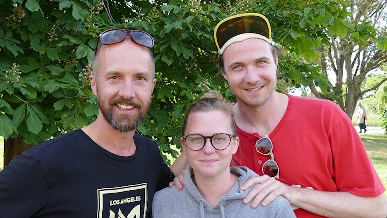 Olle Sarri, Stina Nordberg och Wilhelm Blomgren