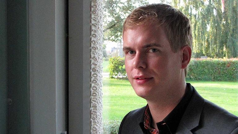 Gustav Fridolin språkrör MP besöker Gotland med sin familj under nästan hela veckan