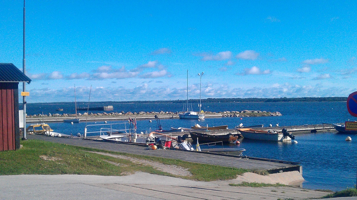 Hamnen i Burgsvik. Foto: Karin Persson/SR Gotland