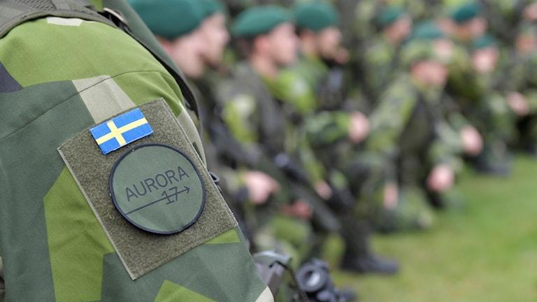 Soldater vid försvarsövningen Aurora