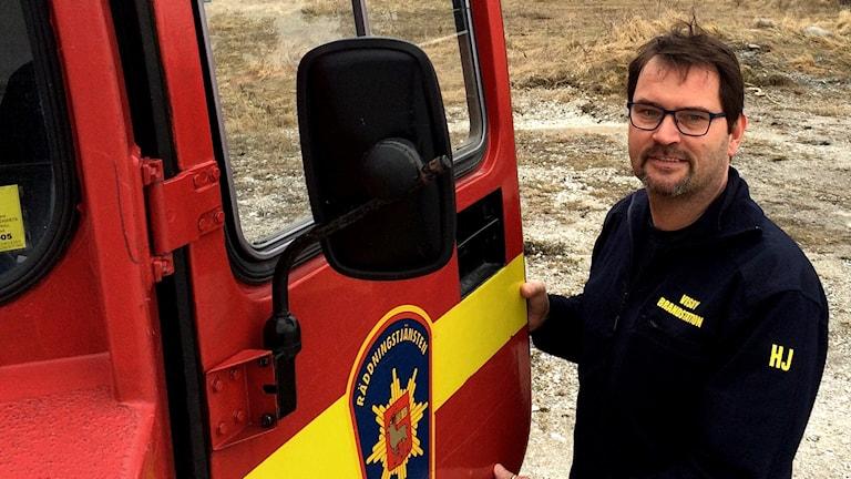 Brandbefäl på Räddningstänsten i Visby