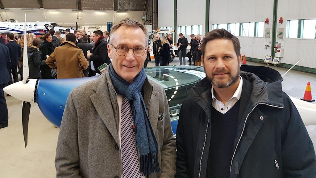 Lars Thomsson (C) och Gunnar Jonasson.