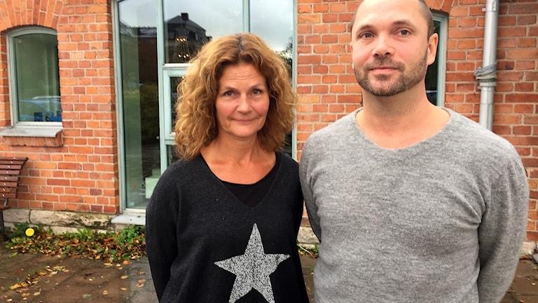 Psykologerna Misa Sjöberg och Jonas Sommar på vårdcentralen Wisborg.