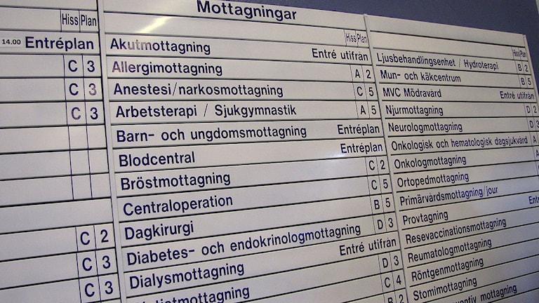 Vårdavdelningar på Visby lasarett. Foto: Katarina Hedström/SR Gotland