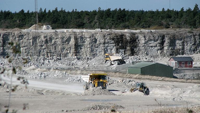 Nordkalks stenbrott i Storungs. Foto: Jonas Neuman/SR Gotland