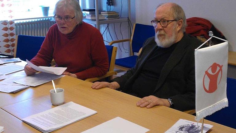 Ann-Marie Franzon och Peter Herthelius, Rädda Barnen på Gotland. Foto: Anna Jutehammar/SR Gotland.