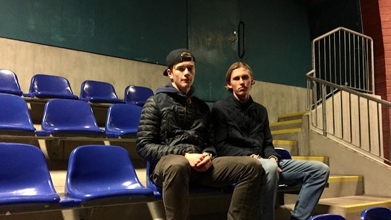 Alexander Ahl Holmström och Emil Engqvist ser fram emot söndag.