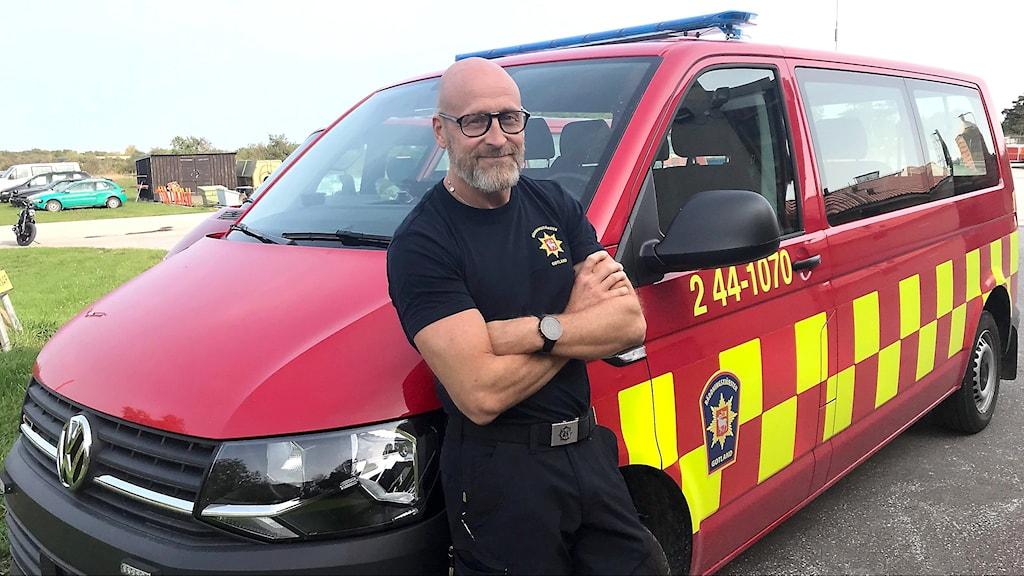 Jonatan Ahdrian, yttre befäl i räddningstjänsten på Gotland.
