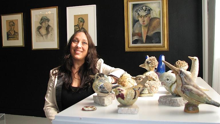 Konstvetaren Marika Bogren som doktorerar om Tyra Lundgren.