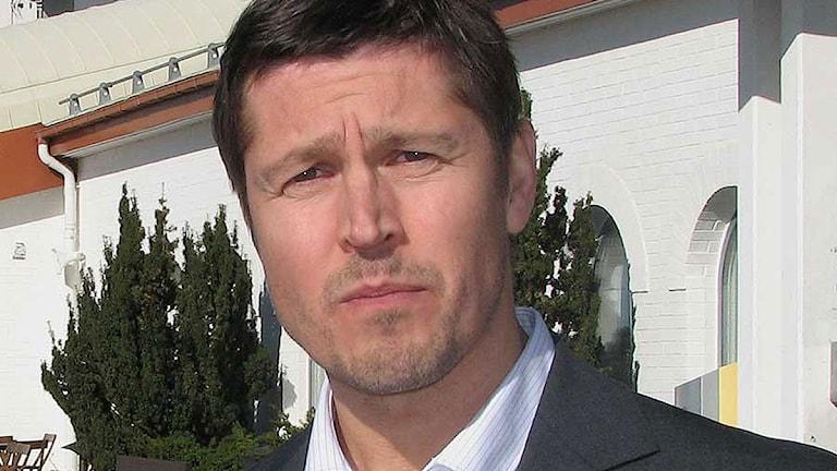 Ola Mattson, vd för Gotlandsflyg. Foto: SR Gotland.