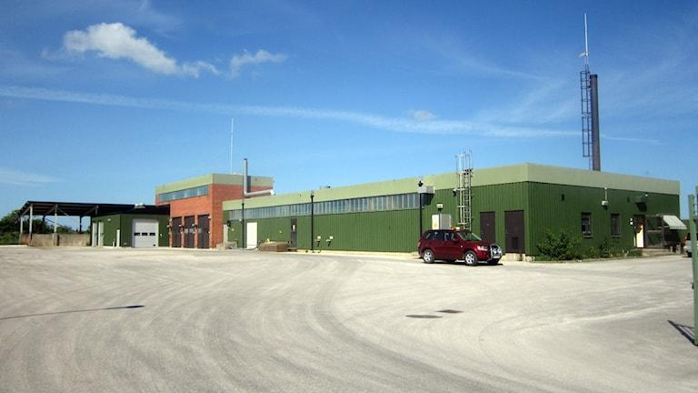 Reningsverket i Klintehamn. Foto: Jonas Neuman/SR Gotland