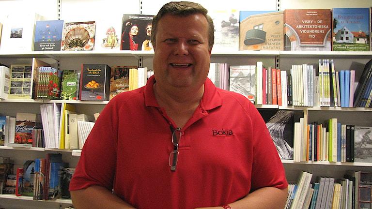 Roland Salemark, butiksägare och vice ordförande för Visby Centrum. Foto: Yasmine Lindgren-Widholm/SR Gotland.