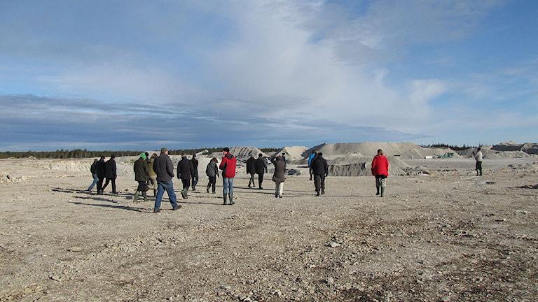 Miljödomstolen på besök i Bunge. Foto: Karin Persson/SR Gotland.