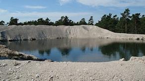 Nordkalks provbrott vid Ducker i Bunge. Foto: Clary Winberg/SR Gotland.