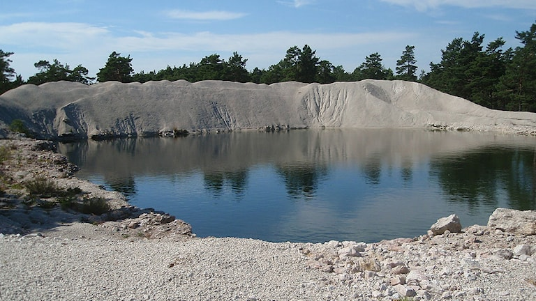 Provgrop vid Ducker i Bunge. Foto: Clary Winberg/SR Gotland.