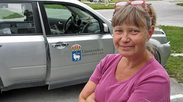 Anna-Lena Fritz på Länsstyrelsen. Foto: Lasse Ahnell/SR Gotland.
