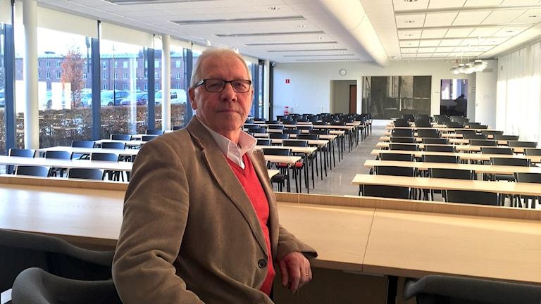 Bosse Björkman (S) innan sitt första Fullmäktigemöte som ordförande.