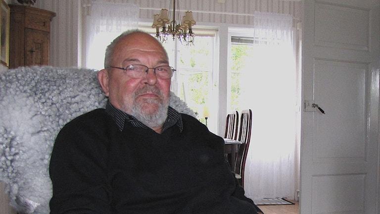 Åke Kihlén i Fleringe. Foto: Johannes Hallbom/SR Gotland