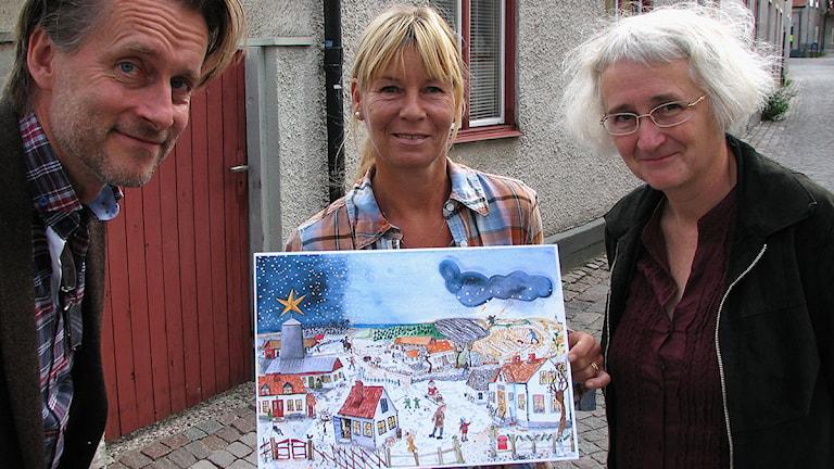 Thomas Sundström, Mari Ljungström och Eva Sjöstrand. Foto: Ulrika Uusitalo-Fernholm/SR Gotland