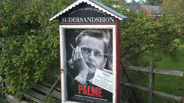 Filmen om Olof Palme visades på Sudersandsbion på Fårö. Foto: Henrik Wallenius/SR Gotland