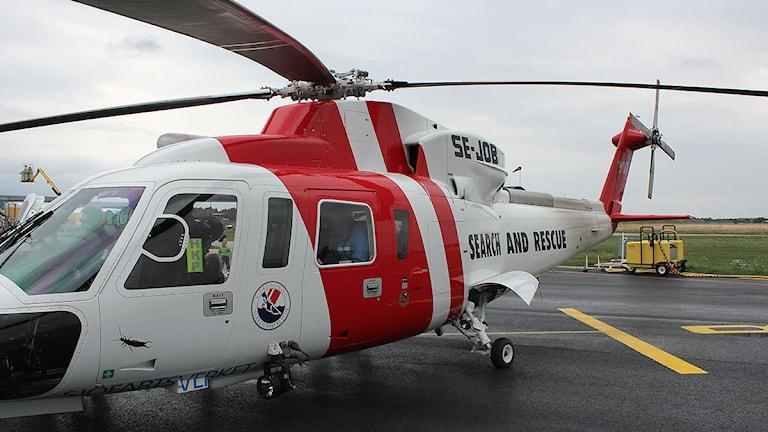 Räddningshelikoptern i Visby. Foto: SR Gotland