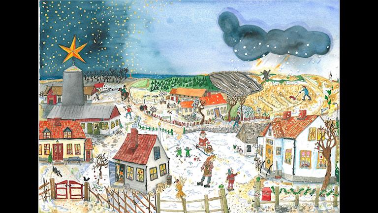 Radio Gotlands julkalender Stjärna över Fritsarve. Konstnär: Mari Ljungström